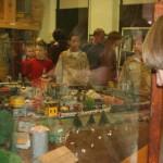 Troops 575 & 389 visit the HO train layout at the Toy Museum, Nov. 2008