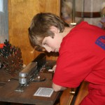 Scouts from troops 575 & 389 learn about antique toy trains, Nov. 2008