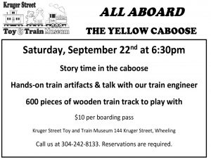 All Aboard the Yellow Caboose (sept 22, 2018)